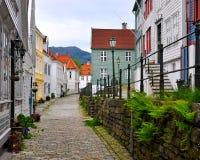 Alte Stadt Bergen Stockbild