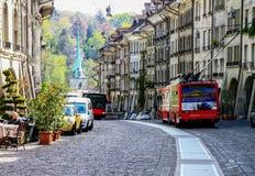 Alte Stadt in Bern, die Schweiz Lizenzfreies Stockbild