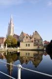 Alte Stadt in Brügge, Belgien Lizenzfreies Stockbild