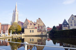 Alte Stadt Brügge in Belgien Lizenzfreies Stockbild