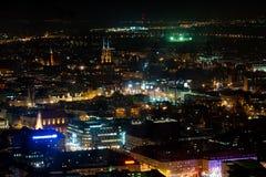 Alte Stadt Breslaus bis zum Nacht Stockbilder