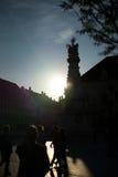 Alte Stadt Budapest Ungarn des Schattenbildes Lizenzfreies Stockbild