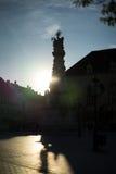 Alte Stadt Budapest Ungarn des Schattenbildes Lizenzfreie Stockfotos
