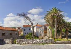 Alte Stadt Budva montenegro lizenzfreie stockbilder