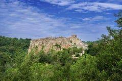 Alte Stadt Calcata Stockfoto
