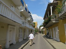 Alte Stadt Cartagenas de Indias Lizenzfreies Stockbild