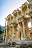 Alte Stadt Celsus-Bibliothek in Ephesus, die Türkei Stockfotografie