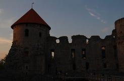 Alte Stadt Cesis Stockfotos