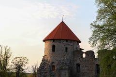 Alte Stadt Cesis Stockbild