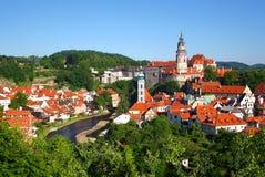 Alte Stadt Cesky Krumlov Stockfotografie