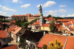 Alte Stadt Cesky Krumlov Lizenzfreies Stockfoto