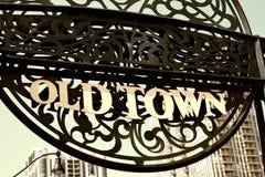 Alte Stadt in Chicago Lizenzfreies Stockbild