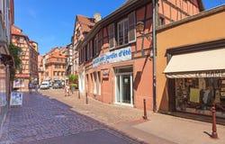 Alte Stadt Colmars Stockbild