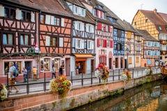 Alte Stadt Colmars in Frankreich stockfotografie