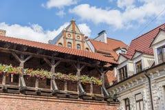 Alte Stadt der Architektur von Riga Stockfotos