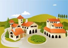 Alte Stadt der Karikatur Stockbilder