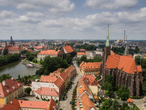 Alte Stadt in der Kathedralen-Insel im Wroclaw, Polen Lizenzfreie Stockfotografie