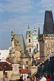 Alte Stadt Der Kremlin wird im Fluss reflektiert Prag, Tschechische Republik lizenzfreie stockfotos