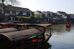 Alte Stadt des Wasser-Dorfs-Xitang Lizenzfreies Stockbild