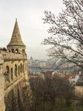 Alte Stadt, die Bastion der Fischer, Budapest, Ungarn Stockfoto