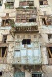 Alte Stadt in Dschidda Saudi-Arabien bekannt als historisches Dschidda Alt und Erbe Windows und Türen in Dschidda Schattierte Ent stockfotografie