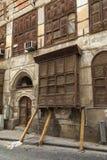 Alte Stadt in Dschidda Saudi-Arabien bekannt als historisches Dschidda Alt und Erbe Windows und Türen in Dschidda Schattierte Ent lizenzfreie stockbilder