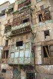Alte Stadt in Dschidda Saudi-Arabien bekannt als historisches Dschidda Alt und Erbe Windows und Türen in Dschidda Schattierte Ent stockbilder