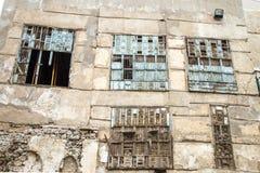 Alte Stadt in Dschidda Saudi-Arabien bekannt als historisches Dschidda Alt und Erbe Windows und Türen in Dschidda Schattierte Ent lizenzfreies stockbild