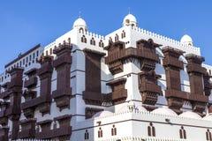 Alte Stadt in Dschidda, Saudi-Arabien bekannt als historisches Dschidda Alt und Erbe Windows und Türen in Dschidda Schattierte En stockfoto