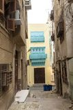 Alte Stadt in Dschidda, Saudi-Arabien bekannt als historisches Dschidda Altes Gebäude im UNESCO-Welterbhistorischen Dorf Al Balad lizenzfreie stockfotos