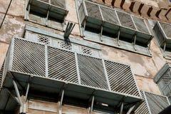 Alte Stadt in Dschidda, Saudi-Arabien bekannt als ` historisches Dschidda-` Alte und Erbgebäude und -straßen in Dschidda Schattie stockfotografie