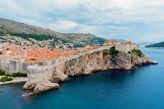 Alte Stadt Dubrovniks überdacht allgemeine Ansicht - Kroatien Lizenzfreies Stockbild