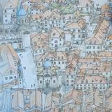 Alte Stadt Dubrovniks von oben Stockbild