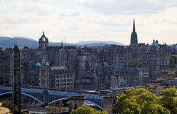 Alte Stadt. Edinburgh. Schottland. Großbritannien. Lizenzfreie Stockbilder