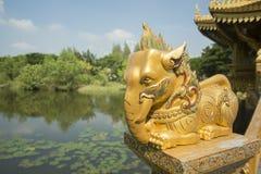 ALTE STADT-ELEFANT THAILANDS BANGKOK SAMUT PRAKAN Stockfoto