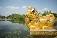ALTE STADT-ELEFANT THAILANDS BANGKOK SAMUT PRAKAN Lizenzfreies Stockbild