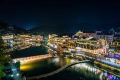 Alte Stadt Fenghuang, südwestlich des Provinz Hunans lizenzfreies stockbild