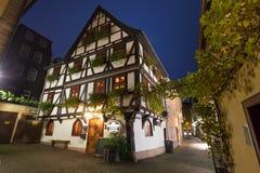 Alte Stadt Fulda Deutschland am Abend Lizenzfreie Stockbilder