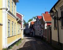 Alte Stadt Gävle lizenzfreies stockbild