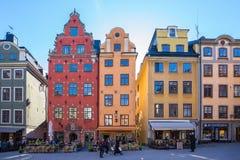 Alte Stadt Gamla Stan in Stockholm-Stadt, Schweden Lizenzfreie Stockbilder