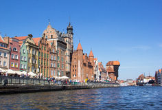 Alte Stadt in Gdansk, Polen Stockbild