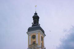 Alte Stadt Hall Clock Tower Lizenzfreies Stockbild