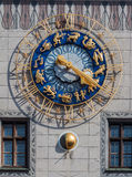 Alte Stadt Hall Zodiac Clock Munich Germany Stockfotos