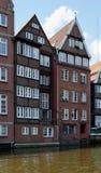 Alte Stadt Hamburg auf Kanälen im Speicherstadt - Hamburg - Deutschland - Europa Stockfotografie