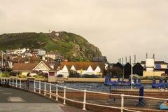Alte Stadt Hastings Stockbild