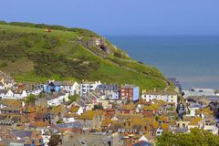 Alte Stadt in Hastings Stockfoto