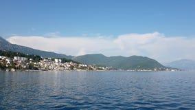 Alte Stadt Herceg Novi in Kotor-Bucht in Montenegro stock video