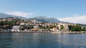 Alte Stadt Herceg Novi in Kotor-Bucht in Montenegro stock video footage