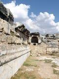 Alte Stadt Hierapolis in Pamukkale die Türkei Lizenzfreies Stockbild