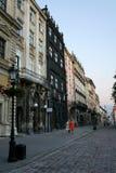 Alte Stadt im Abend Lizenzfreie Stockfotos